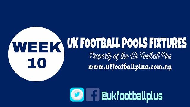 Wk 10 football pools fixtures