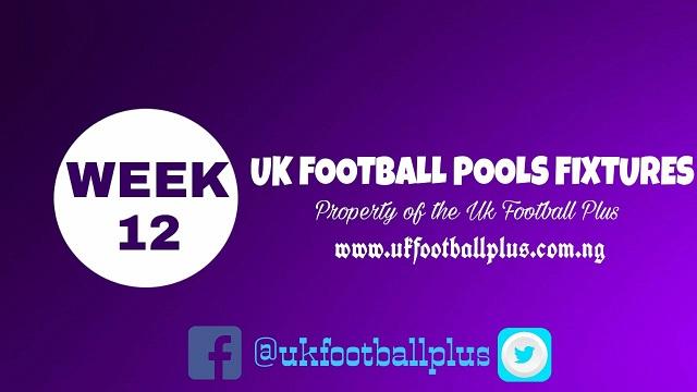 Wk12 Football Pools Fixtures