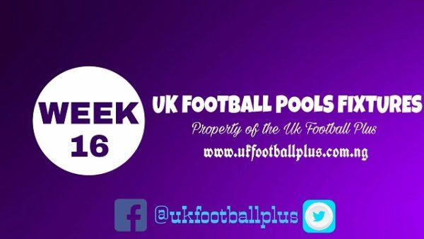 Wk16 Football Pools Fixtures