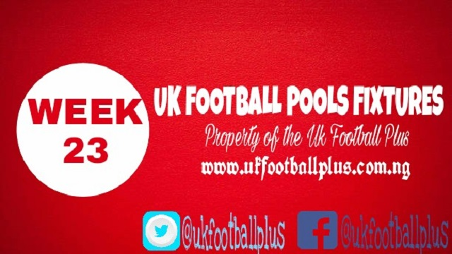Wk23 Football Pools Fixture