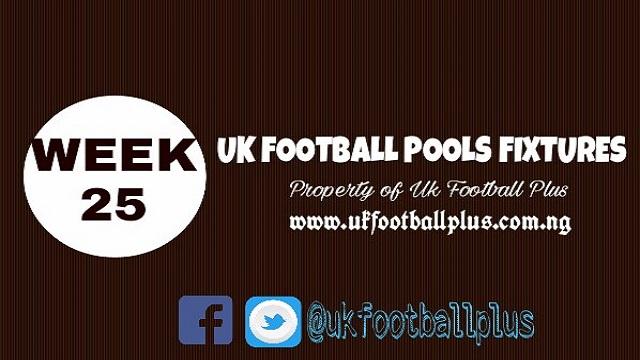 wk25 football pools fixturess