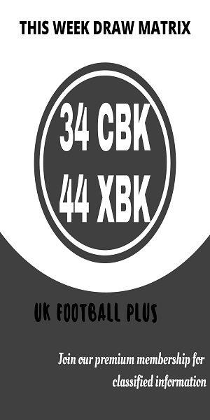 Week 26 Football draw matrix