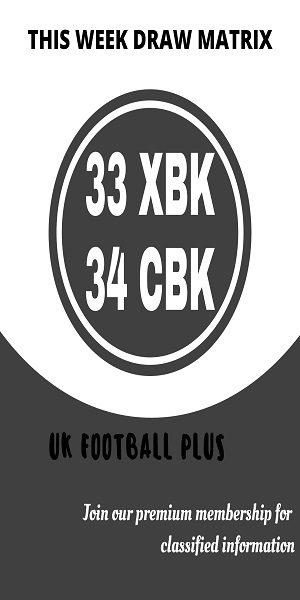 Wk 23 Football draw matrix