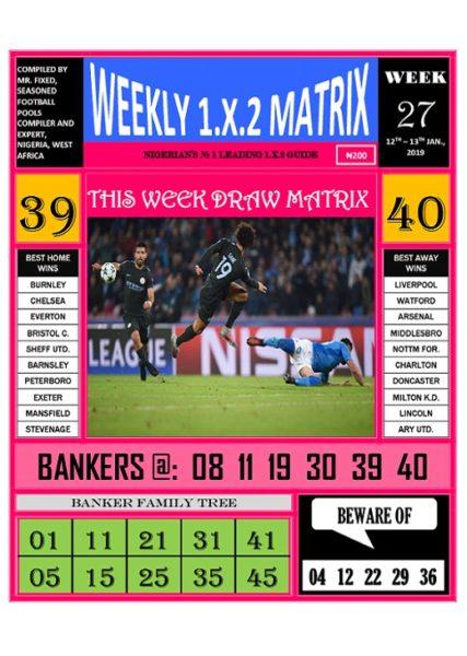 Week 27 Weekly 1.X.2 Matrix - Page 1