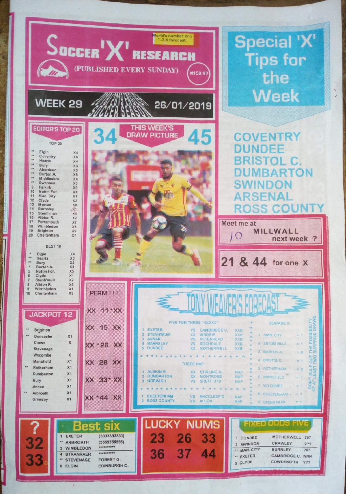 Week 29 Soccer X Pg1