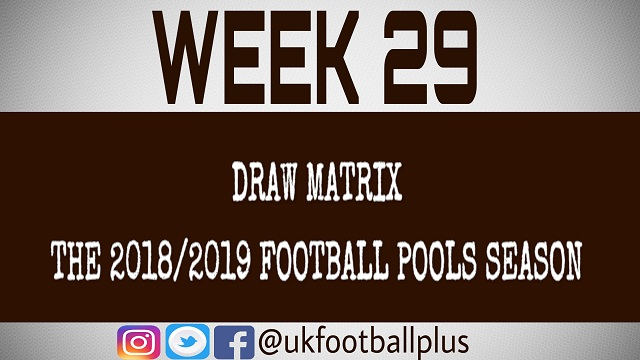 Week 29 football pools draws