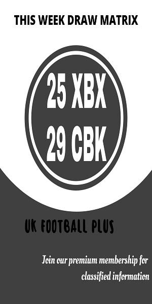 Week 30 football pools draw matrix (UK Football Plus)