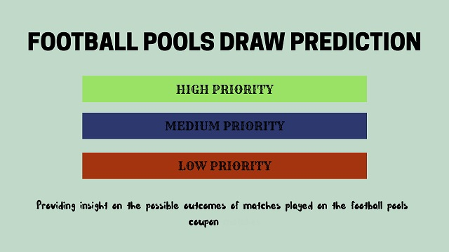 Football pools draw prediction