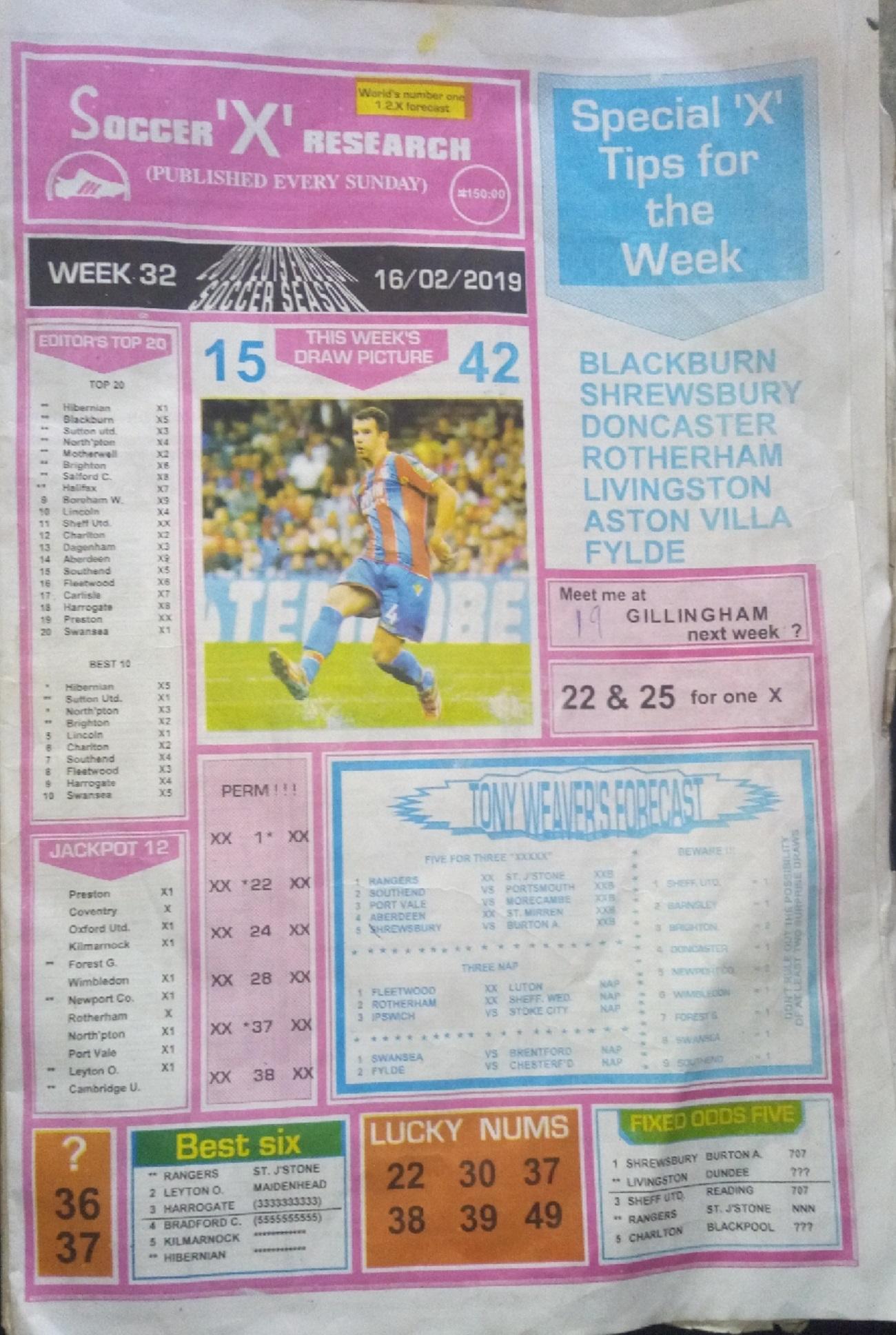 Week 32 Soccer X Pg1