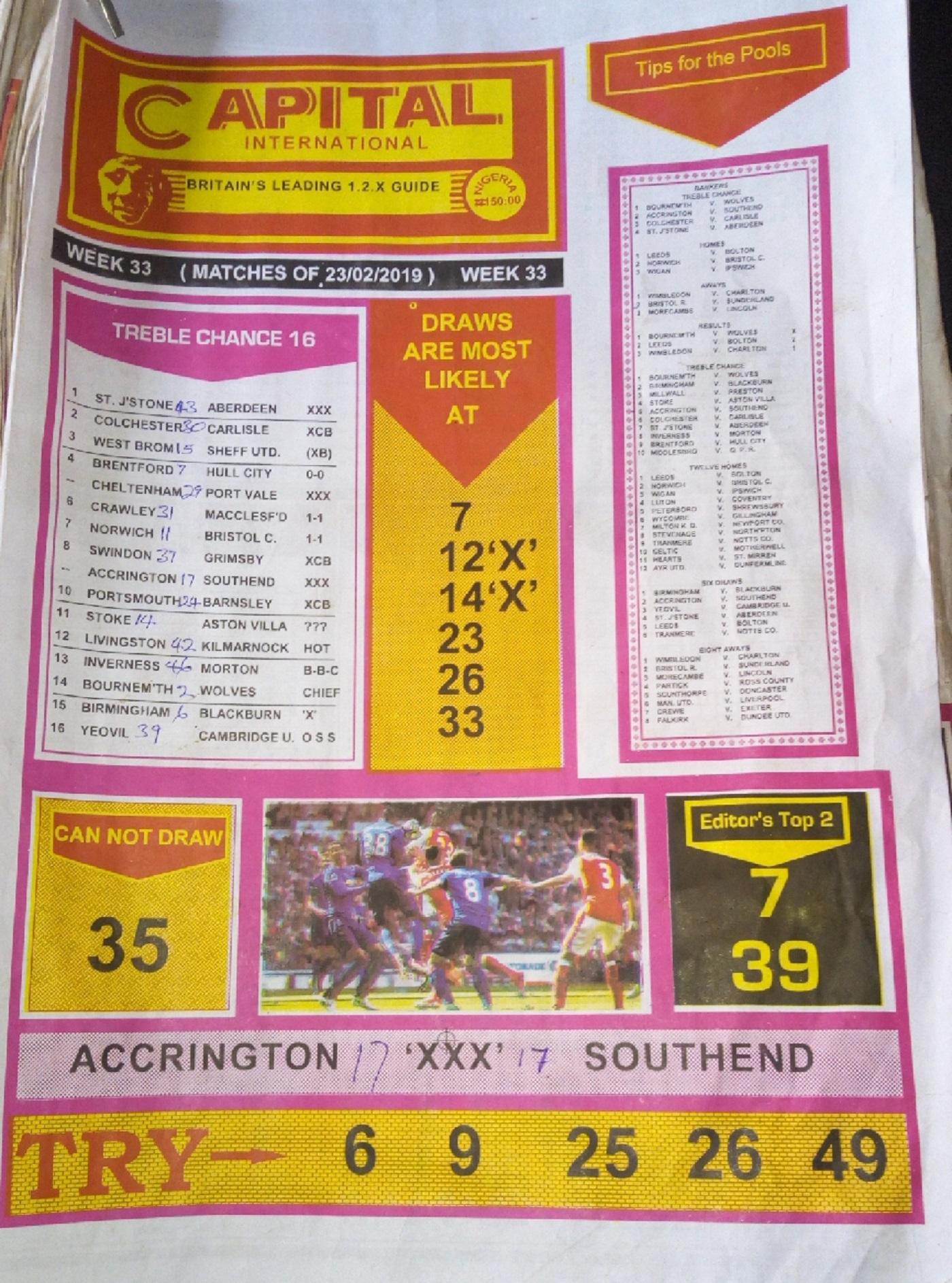 Week 33 Capital Pg1 UK Football Plus