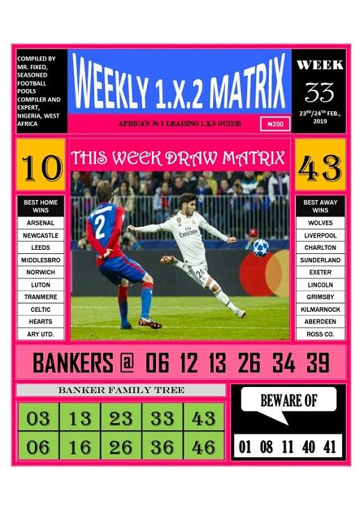 Week 33 weekly 1.x.2 matrix