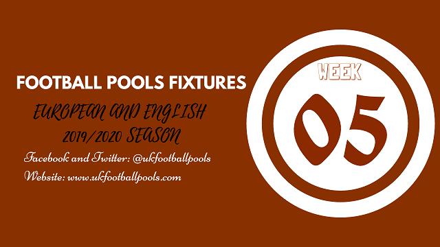 Week 05 pools fixtures