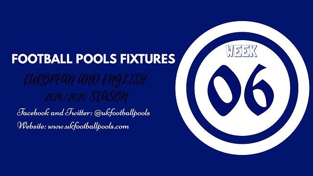Week 06 pools fixtures