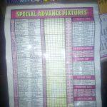 Week 24 special advance fixtures