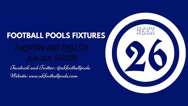 Week 26 pools fixtures