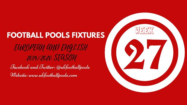 week 27 pool fixtures