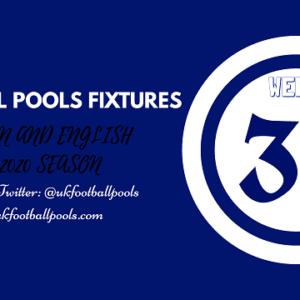 Week 30 Pools Fixtures – UK 2019/2020 Season