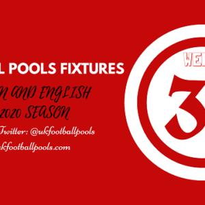 Week 31 Pools Fixtures – UK 2019/2020 Season