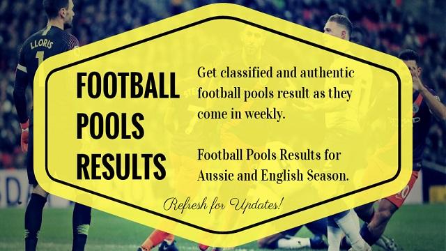 football pools results