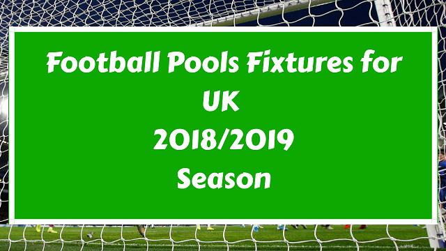 pools fixtures 2018 - 2019 season