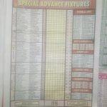 Week 29 Special Advance Fixtures