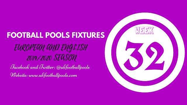 Week 32 pool fixtures