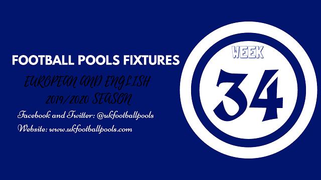 Week 34 pool fixtures