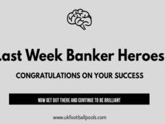 Pool Draw This Week 33: Pool Banker Room Heroes for Week 32 – UK 2019/2020