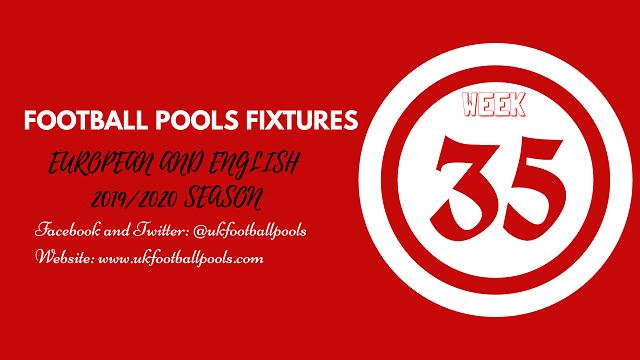 Week 35 pool fixtures