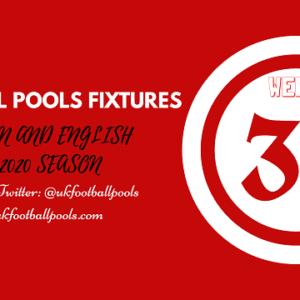 Week 35 Pools Fixtures – UK 2019/2020 Season