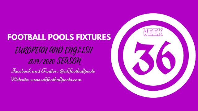 Week 36 pool fixtures