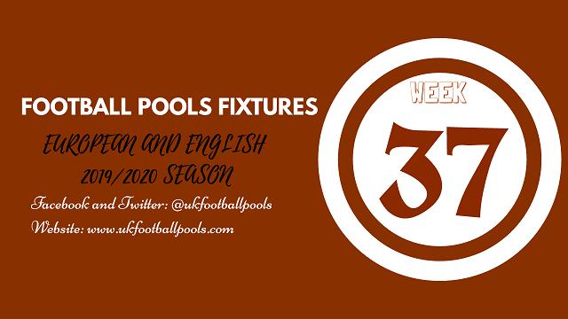 Week 37 pool fixtures