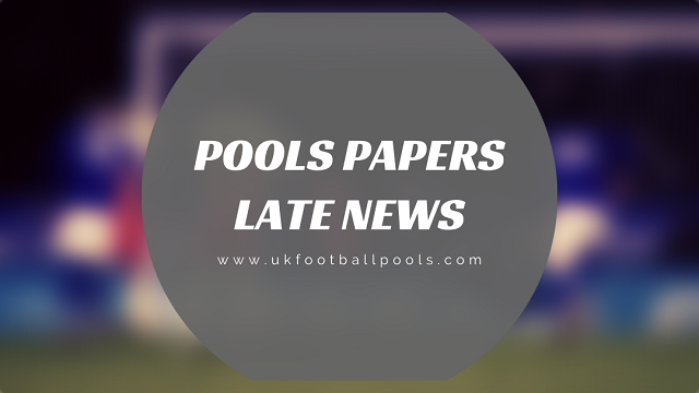 Week 34 BigWin and Dream Pools Late News Papers – 2019/2020