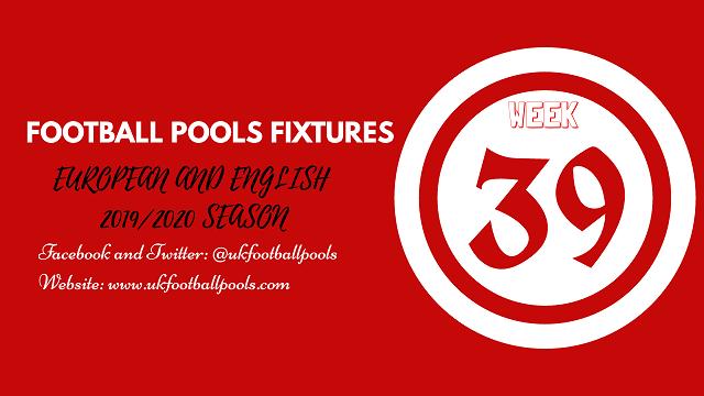 Week 39 pool fixtures