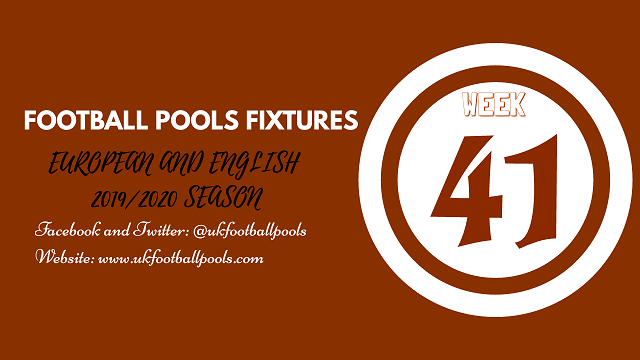 week 41 pool fixtures