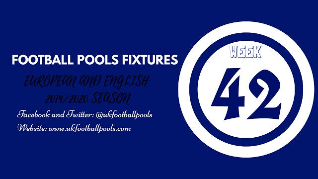 Week 42 pool fixtures