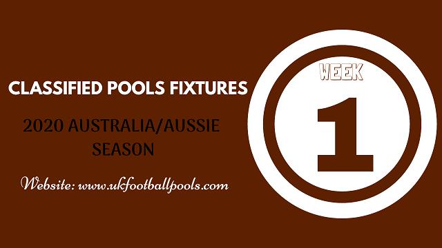 week 1 aussie pool fixtures 2020