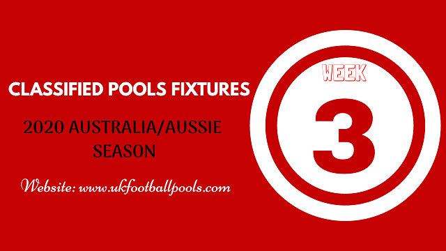 week 3 aussie pool fixtures 2020