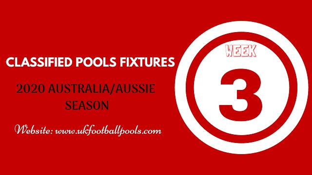 week 3 aussie pool fixtures 2020