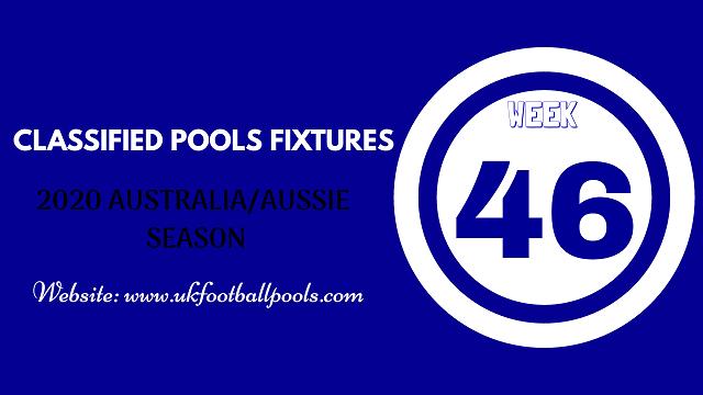 week 46 aussie pool fixtures 2020