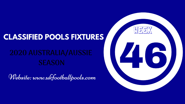 week 46 aussie pool fixtures 2020