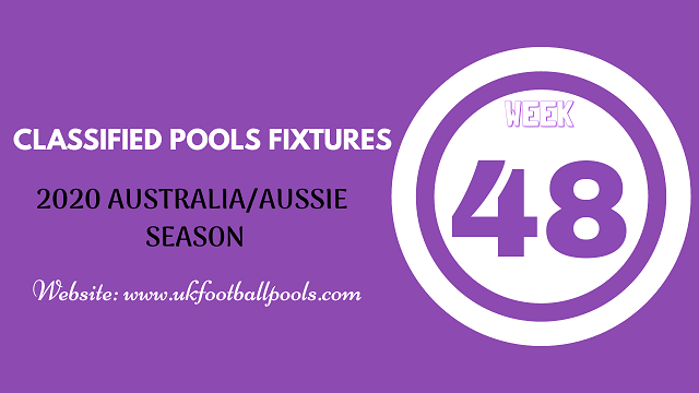 week 48 aussie pool fixtures 2020
