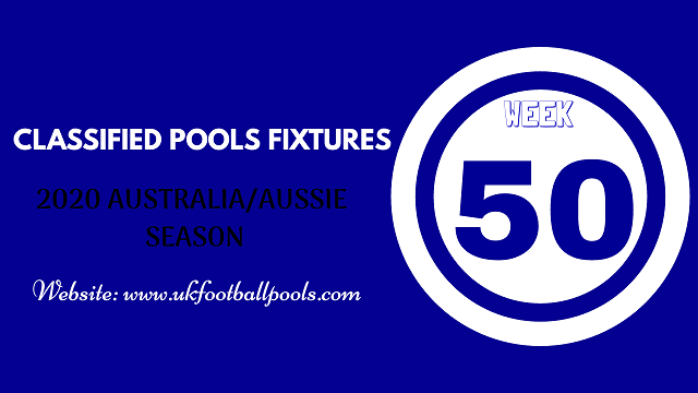 week 50 aussie pool fixtures 2020