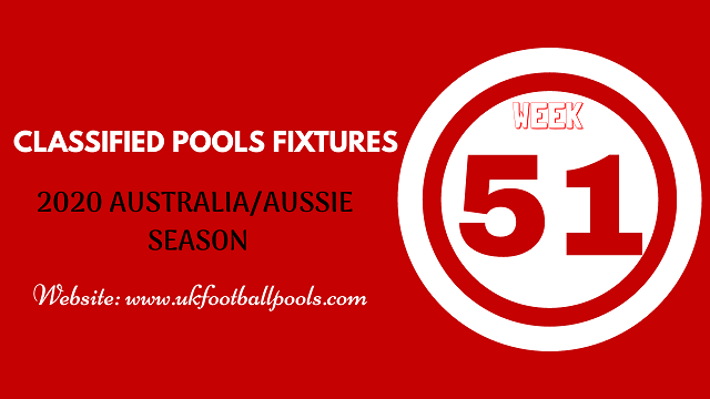week 51 aussie pool fixtures 2020