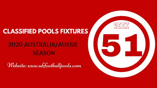 week 51 aussie pool fixtures 2020