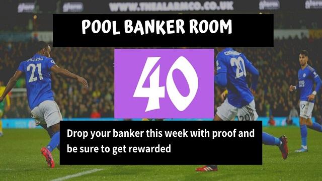 Week 40 pool banker room 2020