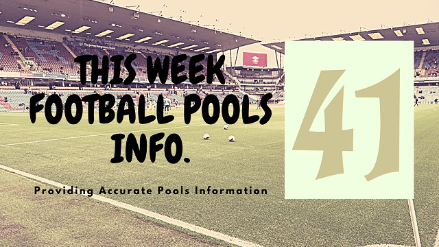 Week 41 pool information 2020