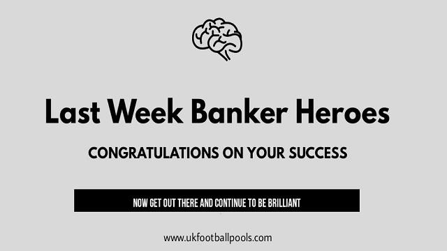 Week 42 Banker Room Champions for Last Week – UK 2019/2020 Season