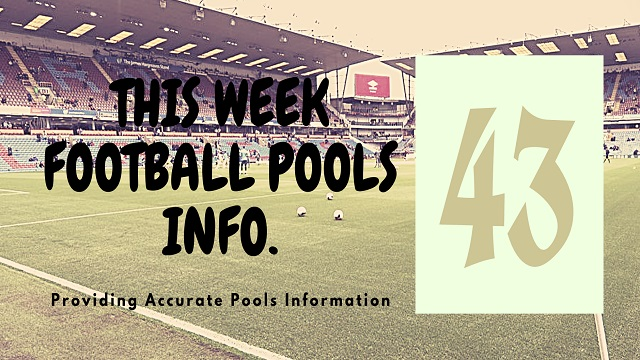 Week 43 pool information 2020