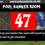 Week 47 Pool Banker Room 2020; Pool Draw This Week: Please Proof Your Best Banker, Pair or Winning Line Here!
